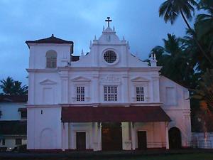 Our-Lady-of-Snows church,-Rachol,Goa